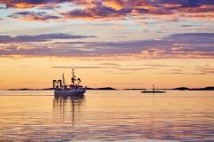 Fiskebåt i Juvika