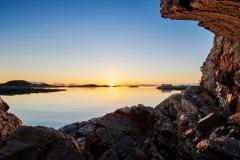 Karlsholmen - februar solnedgang