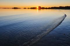 Solnedgang over Oterhalsen fra Rødaleria