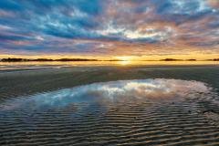 Røaleira - Solnedgang - Speiling