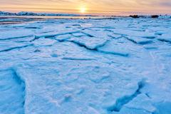 Vinter på Røaleira - Is