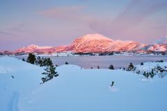 Vinterlandskap ved Ørnehaugen - Gossen