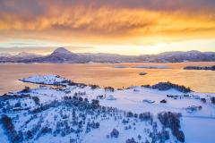 Nautneset - Dronebilde - Vinter