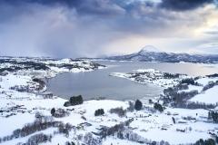 Dronefoto - Nerbøvågen - Vinter