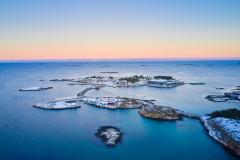 Rindarøya - Karlsholmen - vinter- Drone