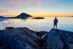Kvamsøya - utsikt mot Riste