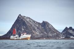 Sjark på Røssøya - Steigen