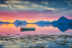 Båt i soloppgang - Boktinj