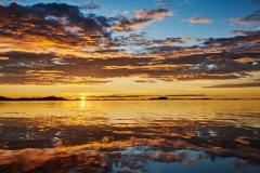 Solnedgang fra Juvika