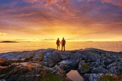 Rindarøya solnedgang for 2