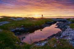 Rindarøya solnedgang for 1