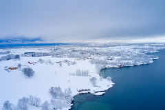 Eikrem - Dronebilde - Vinter