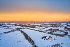 Hauglandet- Dronebilde - Vinter