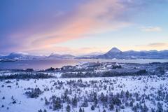Hjertvika - Dronebilde - Vinter