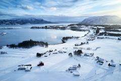 Dronefoto - Boktinj - Vinter
