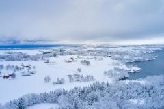 Eikrem - Dronefoto - Vinter