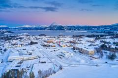 Falkhytten - Vinterbilde - Drone