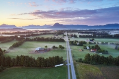 Nyjord - Dronefoto - Morgen