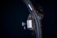 Moloen til Rindarøya fra Lufta