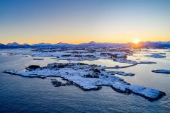 Rindarøya - Soloppgang - Vinter
