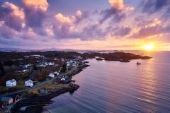 Drone - Røssøyvågen- Solnedgang