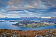 Utsikt fra Røsholfjellet - panorama. Fræna