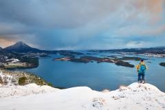 Utsikt fra Skoften - Vinter
