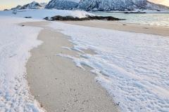 Snø på Silsand - Brunes