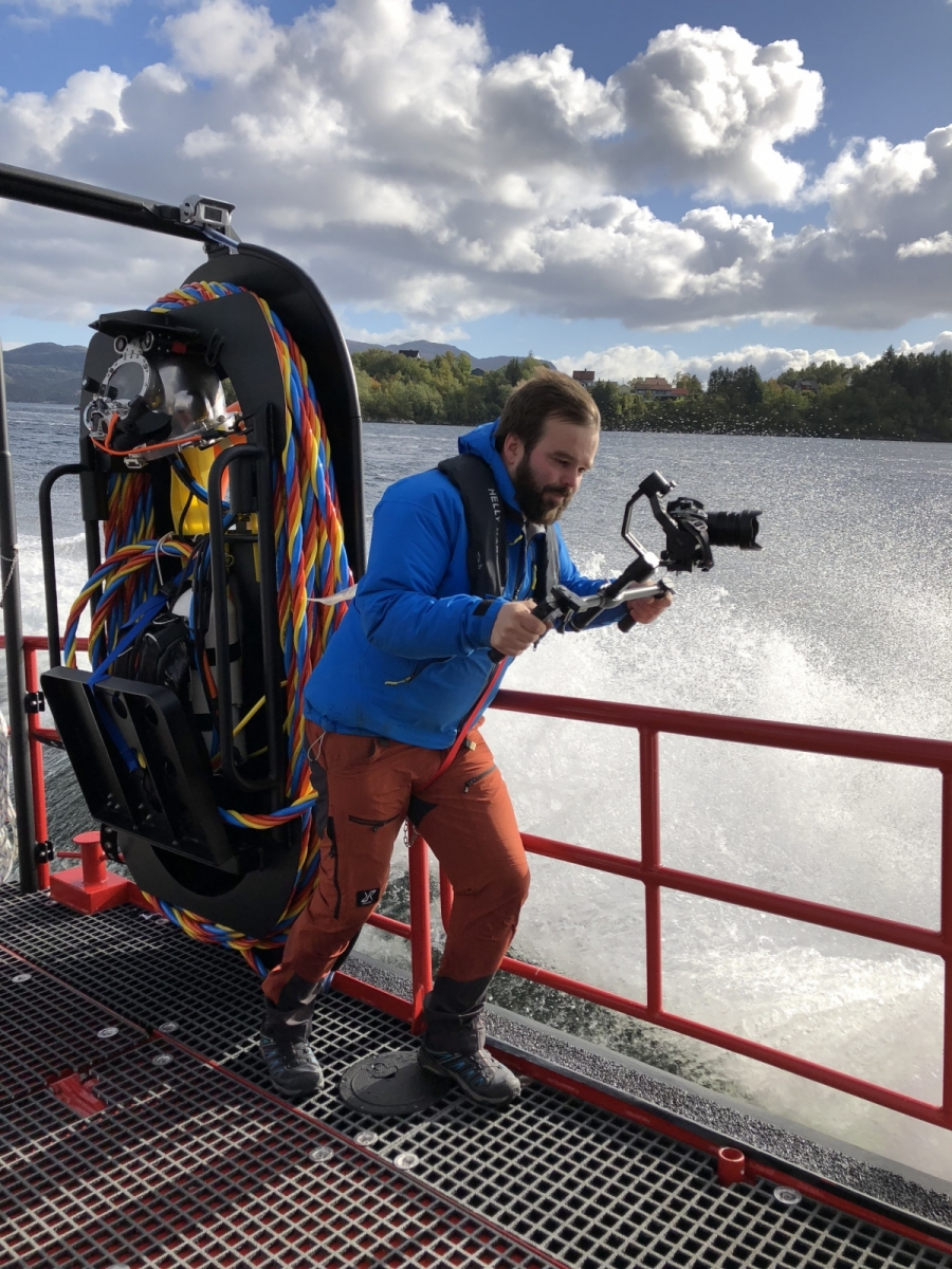 Filming for Hukkelberg Boats
